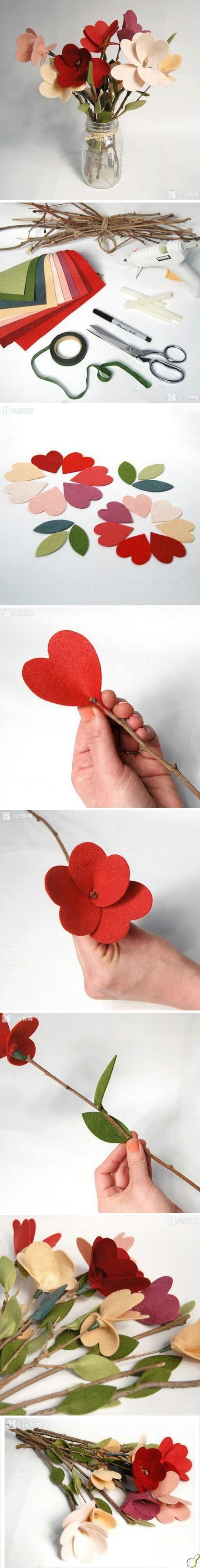 Broche de fieltro con forma de pajaro
