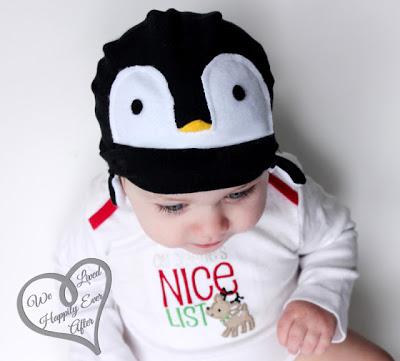 Gorro de fieltro para bebés con forma de pingüino, paso a paso