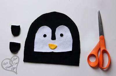 Gorro de fieltro para bebés con forma de pingüino, paso a paso 1