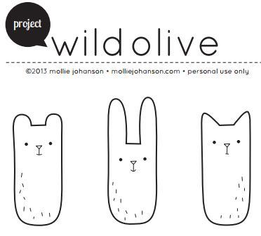 Plantilla, molde o patrón para hacer conejos y gatos sencillos de tela y fieltro