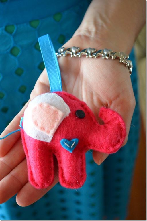 Tutorial, cómo hacer un peluche elefante de fieltro, paso 4