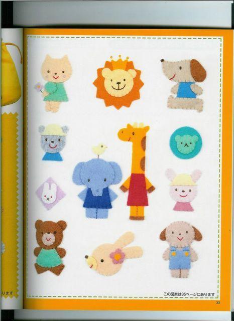Animales de fieltro para niños
