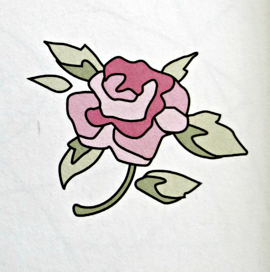 Truco para bordar rosas a mano sobre tela o fieltro, paso a paso