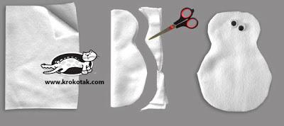Tutorial, conejo de peluche de fieltro, paso 1