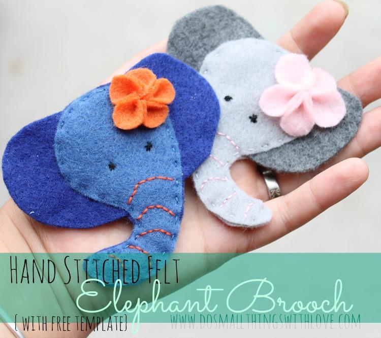 Tutorial paso a paso, broche de fieltro con forma de elefante