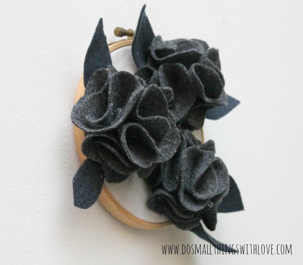 Preciosa flor de fieltro paso a paso para hacer un broche o para decorar