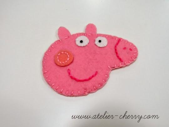 Tutorial Pepa Pig de fieltro, paso a paso 4