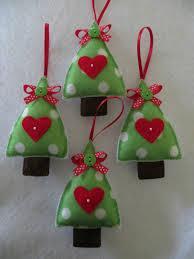 Arbolitos de Navidad en fieltro