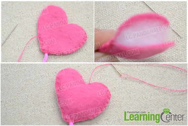 ¡Tutorial aprender broche fieltro oso y y globo corazón 6