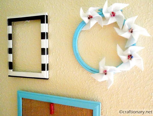 Tutorial para hacer molinillos viento de fieltro, manualidades fieltro para decorar casa