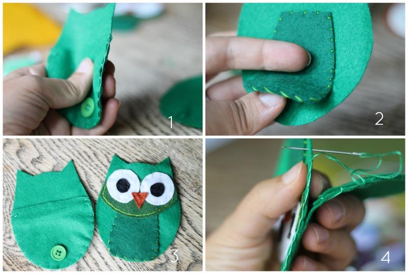 Tutorial para aprender a hacer un monedero fieltro forma de búho 4