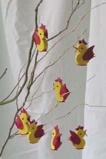 Gallo en fieltro, manualidad para decorar
