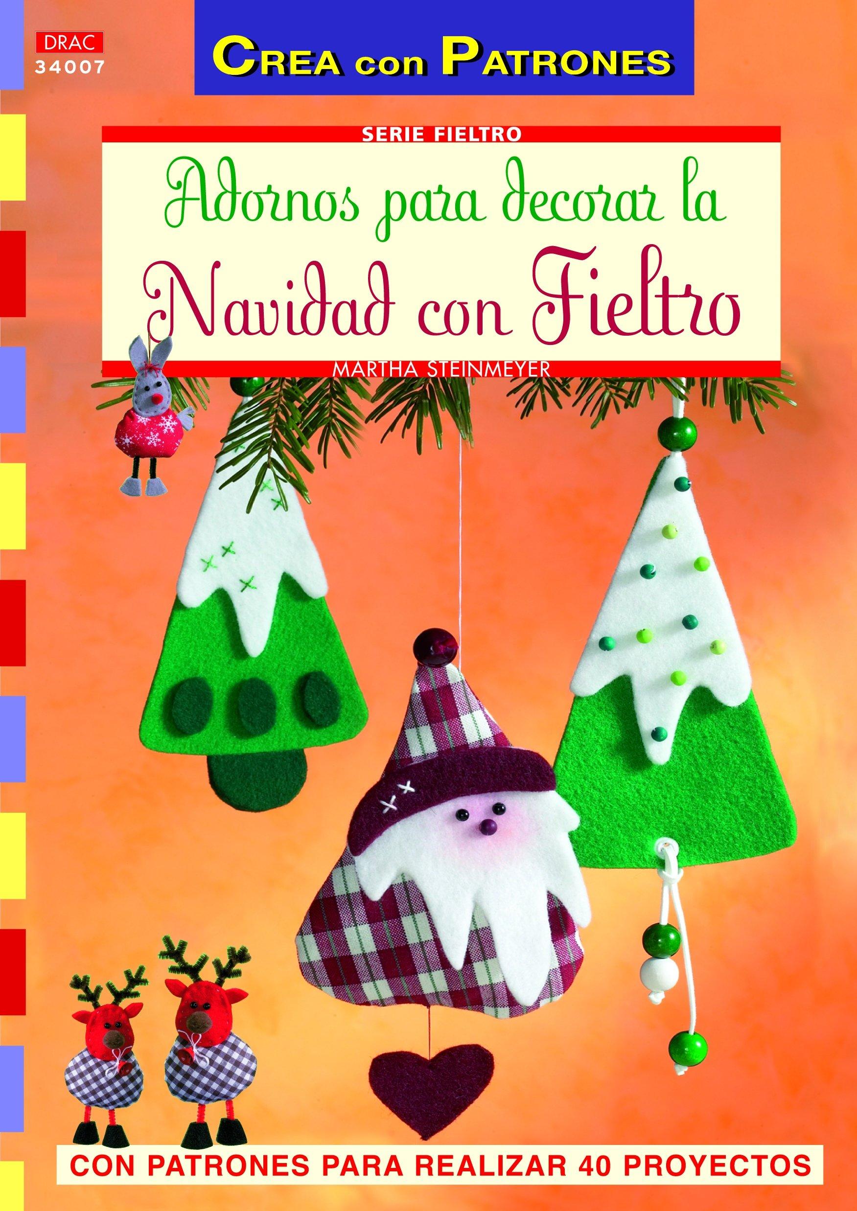 Libros manualidades en fieltro para Navidad con patrones