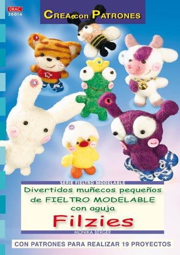 Libro con tutoriales y patrones muñecos fieltro agujado
