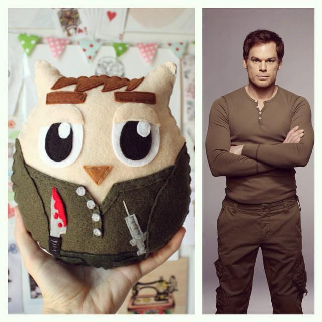 El búho Dexter, un peluche de fieltro personalizado