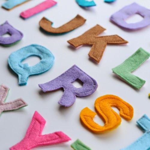 Tutorial para hacer las letras alfabeto en fieltro, muy fácil!