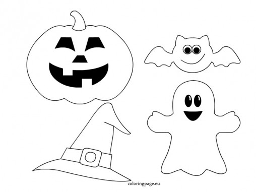 Patr n para hacer decoraciones en fieltro para halloween - Plantillas para decorar calabazas halloween ...