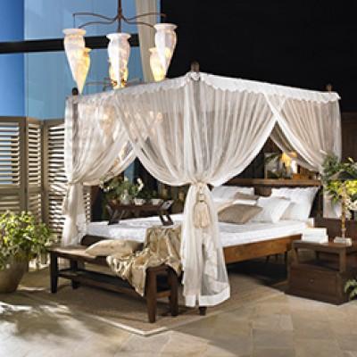 Decoración colonial cama