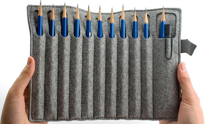 Estuche para lápices y rotuladores hechos de fieltro, DIY 2