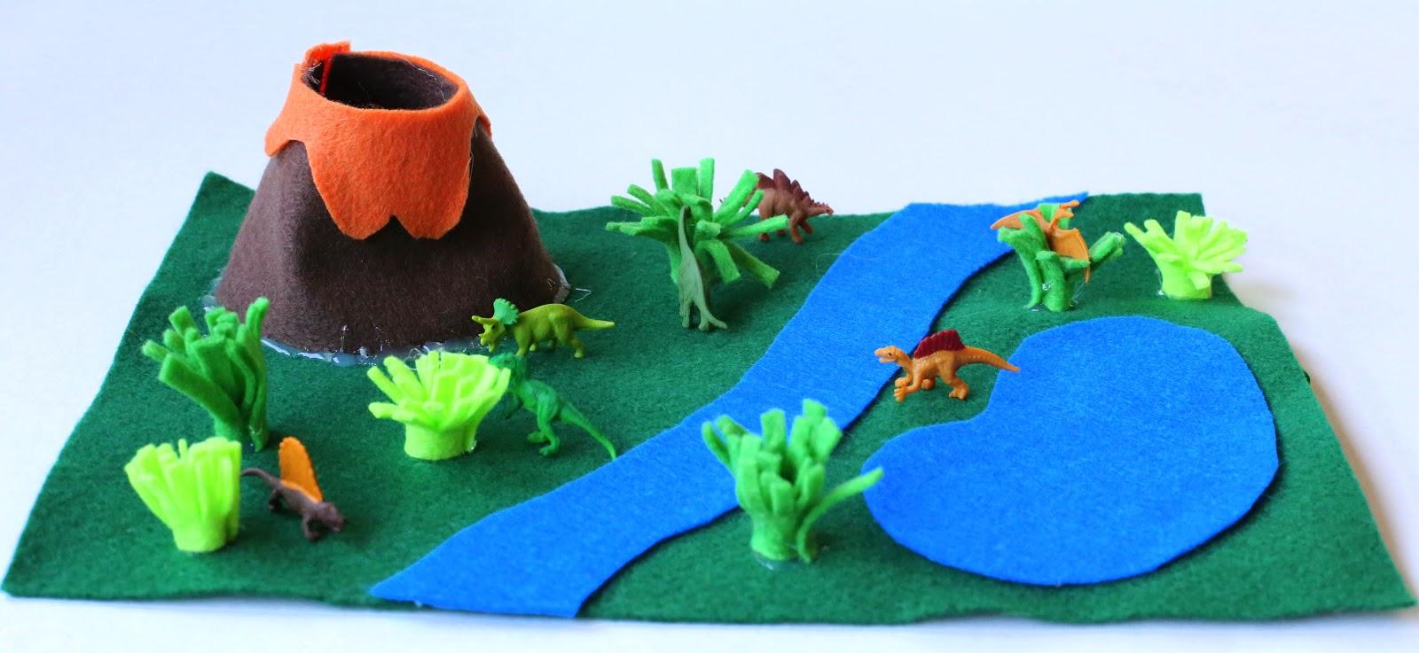 Alfombras de fieltro DIY con jardines, granjas y campos para jugar