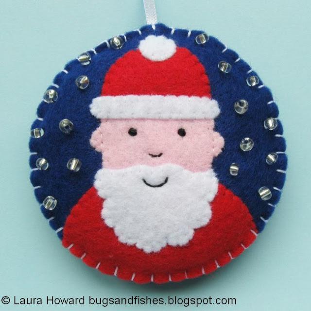 8 decoraciones de fieltro para el rbol de navidad - Arbol de navidad de fieltro ...
