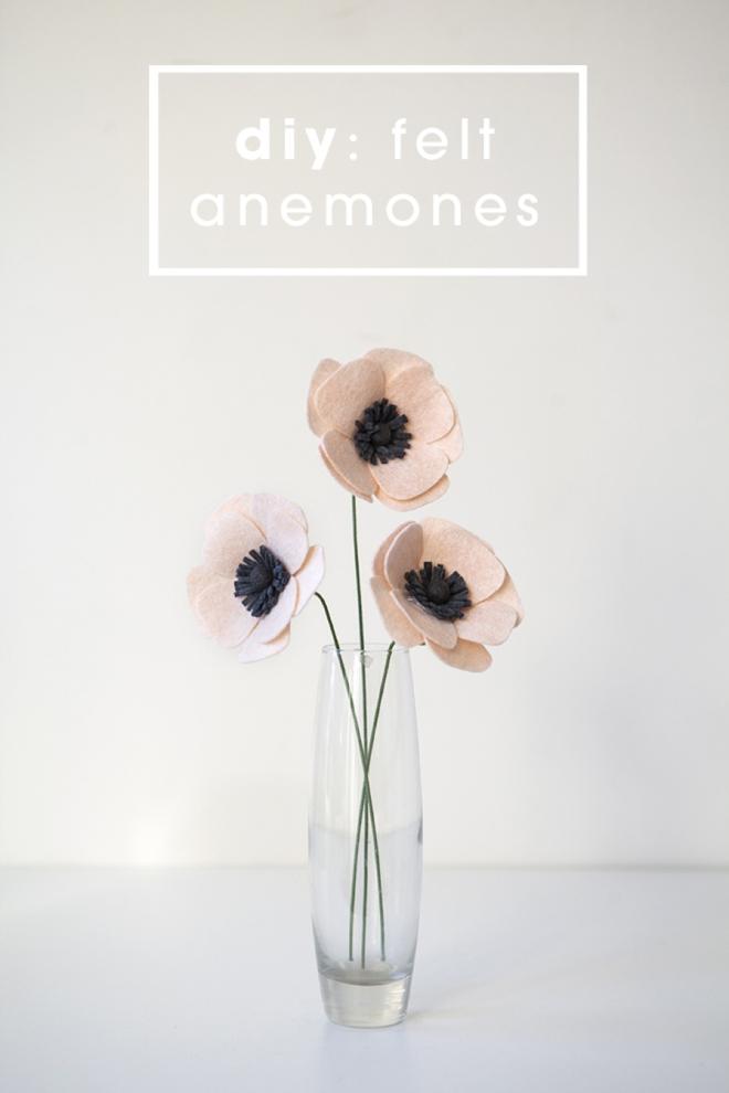 Tutorial DIY flor anémona fieltro, paso a paso