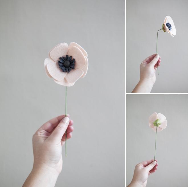 Tutorial DIY flor anémona fieltro, paso a paso 4