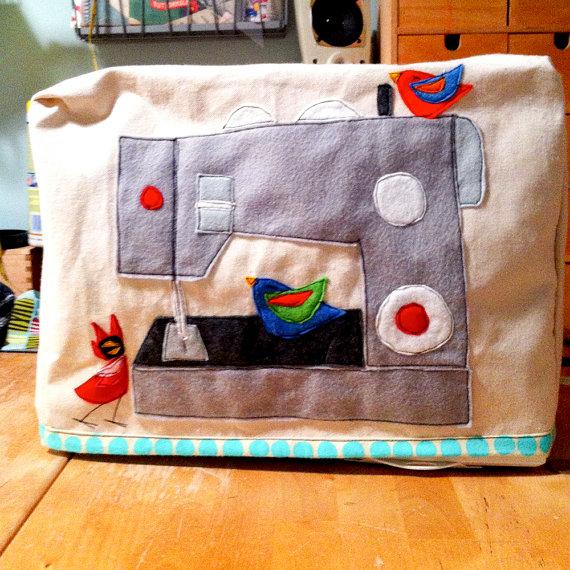 Decorar fundas máquinas de coser con fieltro 4