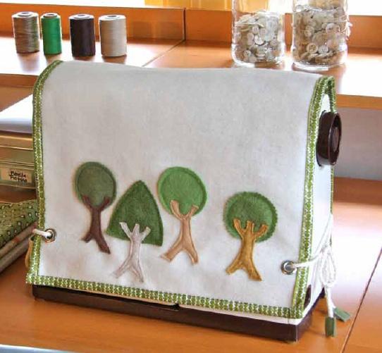 Decorar fundas máquinas de coser con fieltro 5