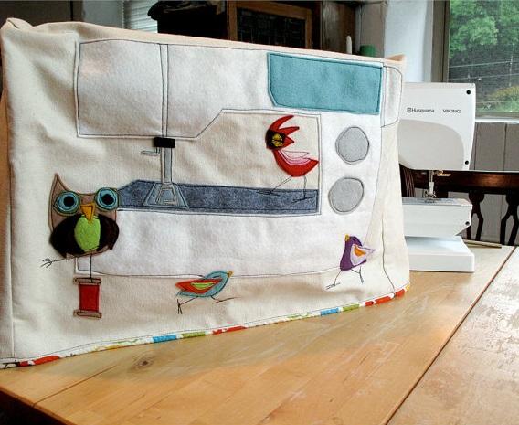 Decorar fundas máquinas de coser con fieltro 2