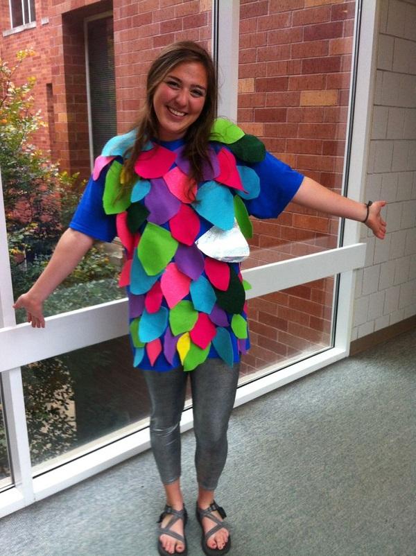 Disfraz Halloween en fieltro, pez arcoíris