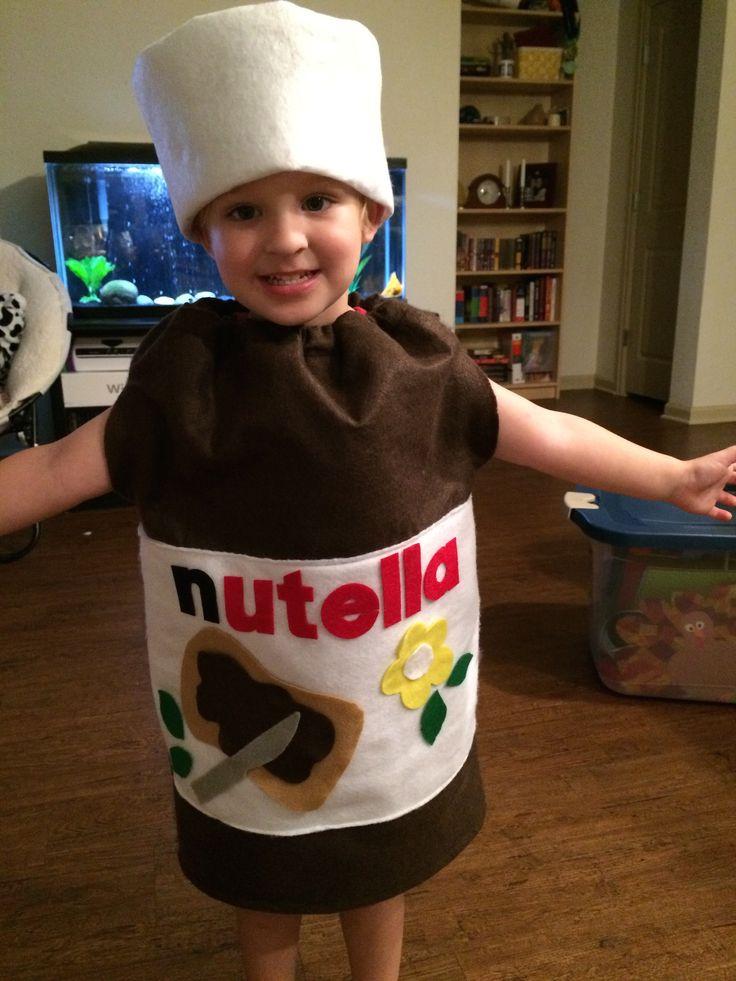 Disfraz Halloween en fieltro, bote de Nutella
