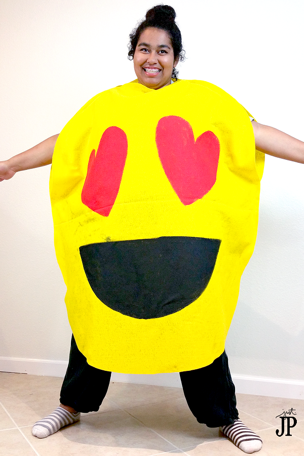 Disfraz Halloween en fieltro, emojis