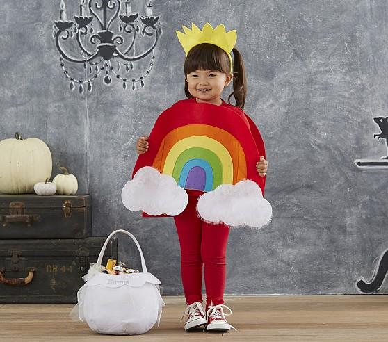 Disfraz Halloween en fieltro, arcoíris y nube