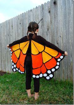 Disfraz Halloween en fieltro, mariposa