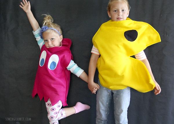 Disfraz Halloween en fieltro, Pacman