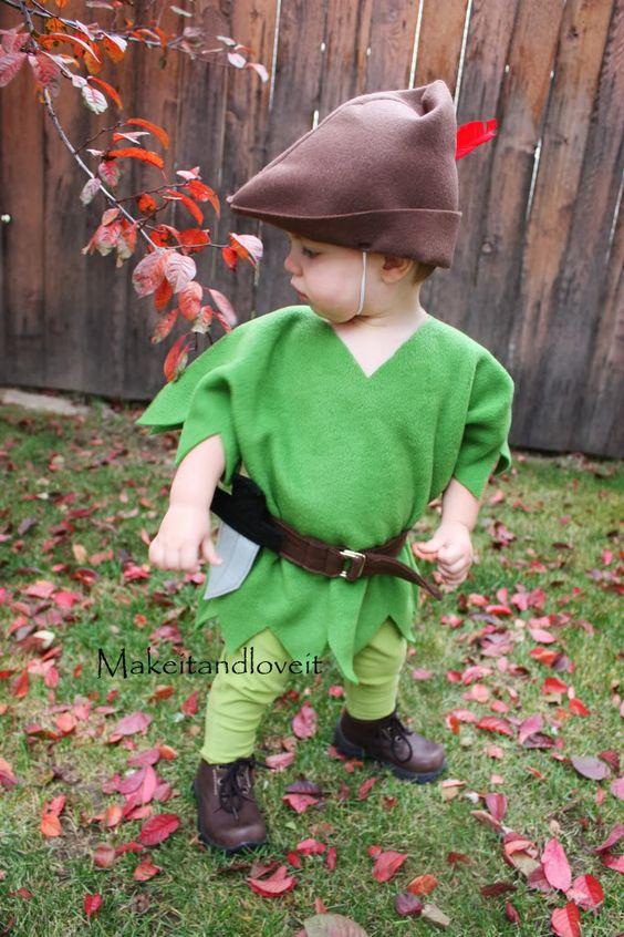 Disfraz Halloween en fieltro, Robin Hood