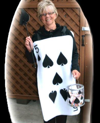 Disfraz Halloween en fieltro, carta poker