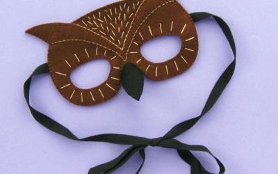 Tutorial para hacer una máscara de búho con fieltro para Halloween