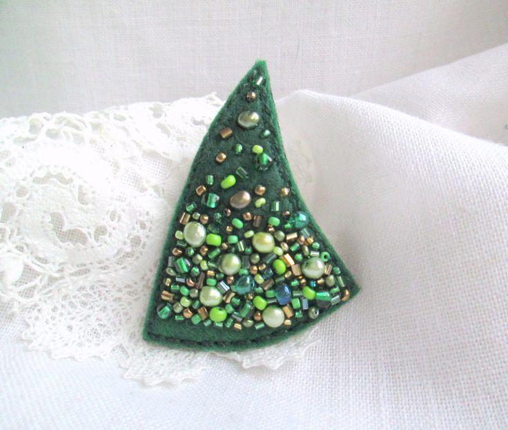 Broche fieltro Navidad árbol