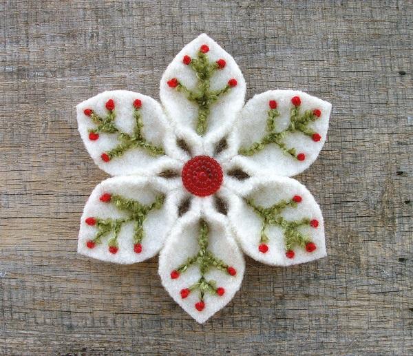 Broches de fieltro para Navidad: 10 diseños llenos de espíritu y amor