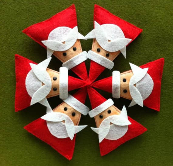 Broche fieltro Navidad Papa Noel