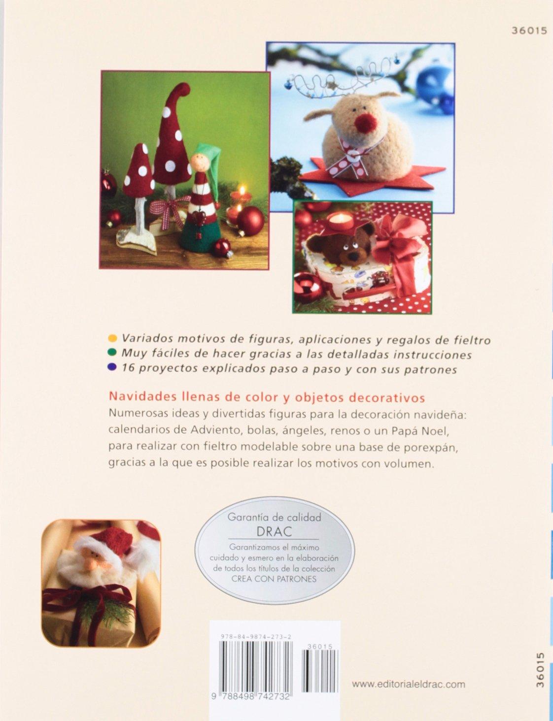 Comprar online manuales decoraciones fieltro agujado Navidad 2