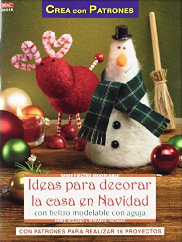 Comprar online manuales decoraciones fieltro agujado Navidad