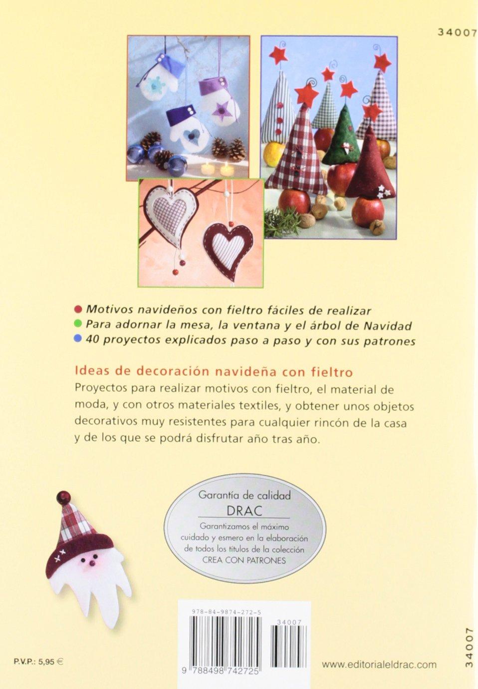 Comprar online manuales decoraciones fieltro Navidad con patrones 2