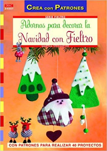 Comprar online manuales decoraciones fieltro Navidad con patrones