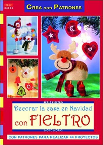 Comprar online manuales decoraciones fieltro Navidad con patrones 3