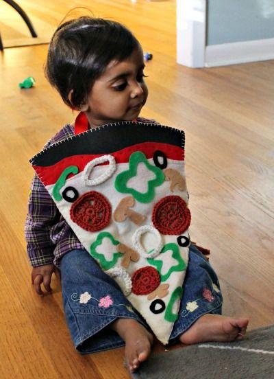 Disfraces de fieltro fáciles para Carnaval, pizza