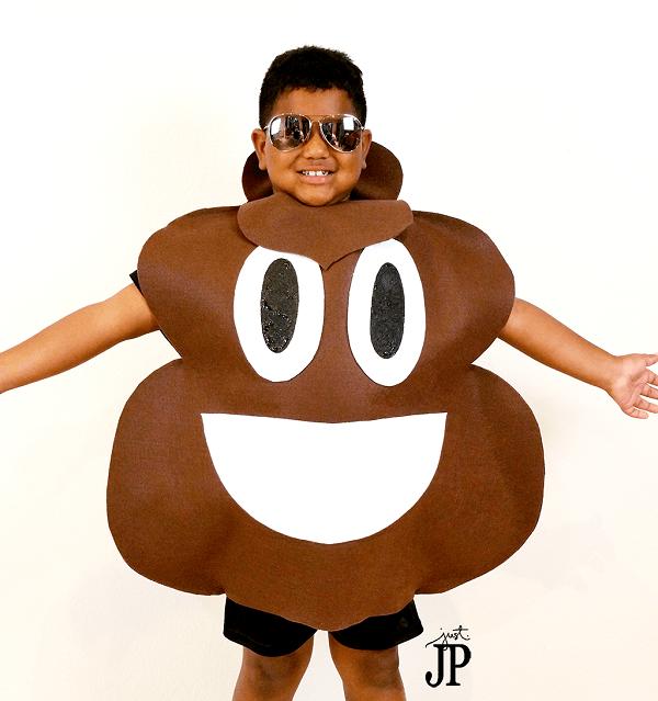 Disfraces de fieltro fáciles para Carnaval, emoji caca