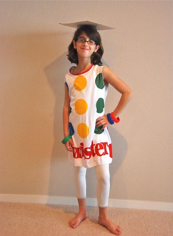 Disfraces de fieltro fáciles para Carnaval, Twister